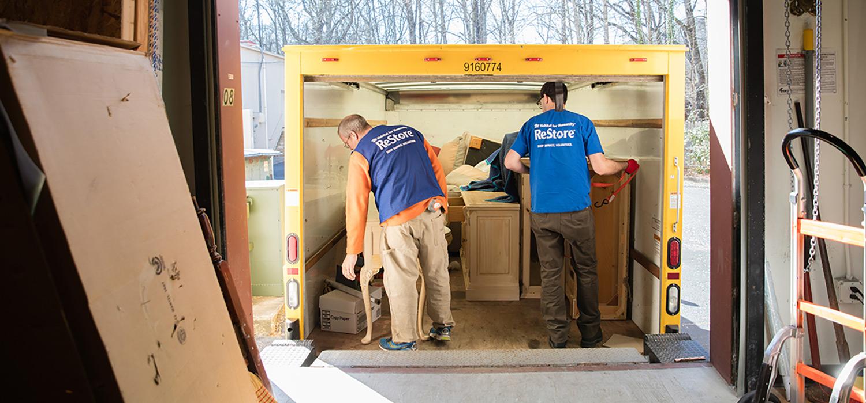 Vail Habitat restore truck