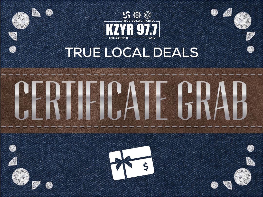 Gift Certificate Grab